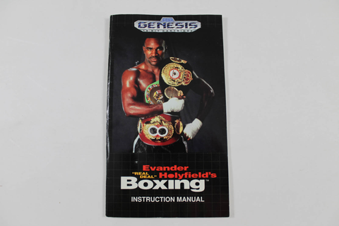 Manual - Evander Holyfield's Real Deal Boxing