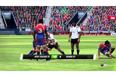 Rugby Challenge 3 PS4 New Zealand 7s v Samoa 7s - YouTube