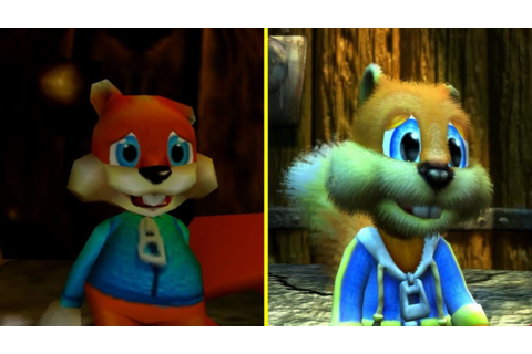 Conker Bad Fur Day vs Live & Reloaded Xbox One Graphics ...