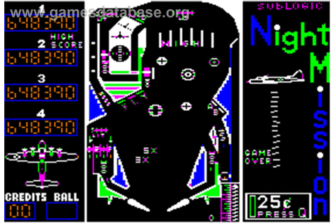 Night Mission Pinball - Apple II - Games Database