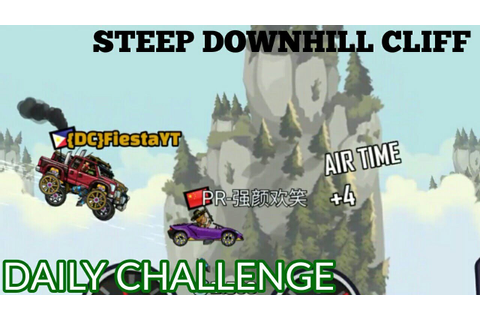 STEEP DOWNHILL CLIFF DAILY CHALLENGE || HILL CLIMB RACING ...