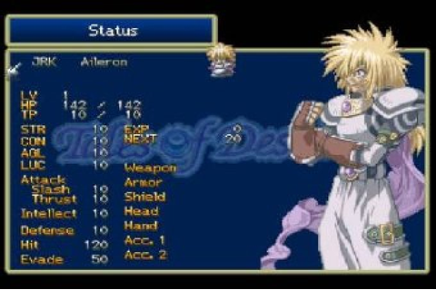 Tales of Destiny (1997) by Namco PS game