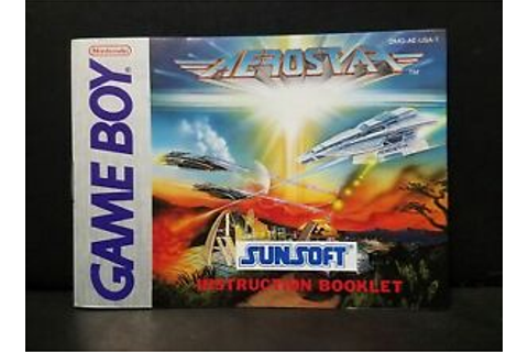 Aerostar (Nintendo Game Boy, 1991) Manual Only | eBay