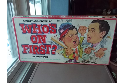 Vintage 1978 Abbott and Costello Who's On First? Board ...