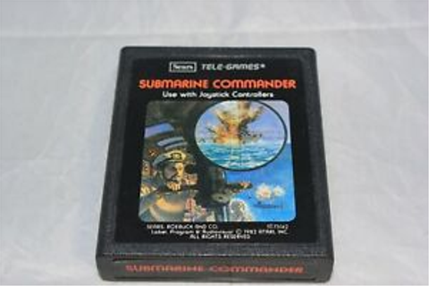 Submarine Commander Atari 2600 Sears Tele-Games Video Game ...