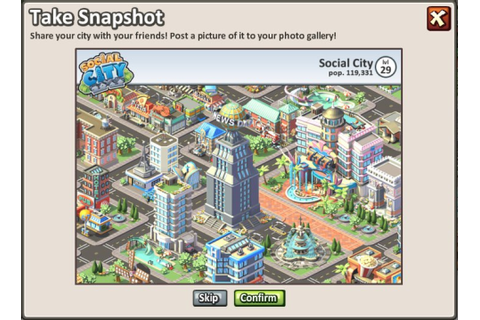 Social City: Now you can take a Snapshot of your city