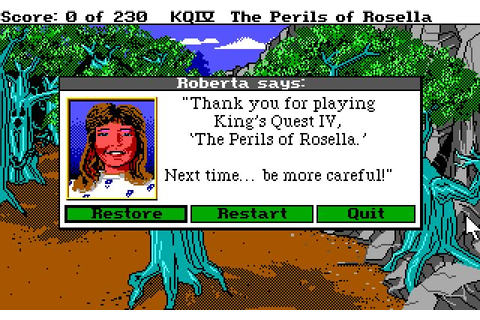 King's Quest 4: The Perils of Rosella adventure for DOS ...