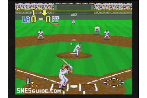 Super Bases Loaded 2 - SNES Gameplay - YouTube