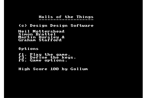 Download Halls of the Things (Amstrad CPC) - My Abandonware