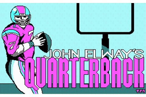 Download John Elway's Quarterback - My Abandonware