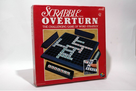 Scrabble Overturn Game from Coleco Games 1988 COMPLETE