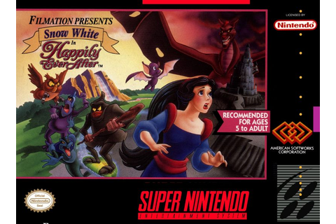 Snow White in Happily Ever After (1994) SNES box cover art ...
