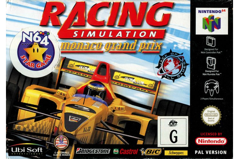 Monaco Grand Prix Racing Simulation 2 for Nintendo 64 ...
