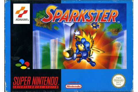 Sparkster (1994) SNES box cover art - MobyGames