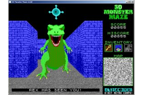 Caiman free games: 3D Monster Maze by Demon Star and Myke-P.