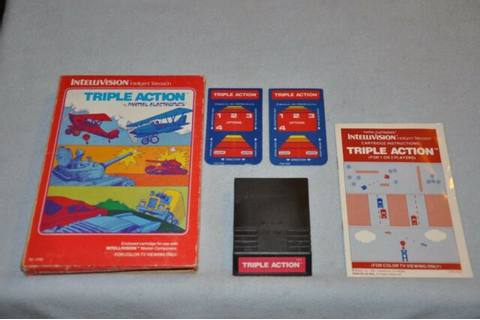 Triple Action Intellivision Game | eBay