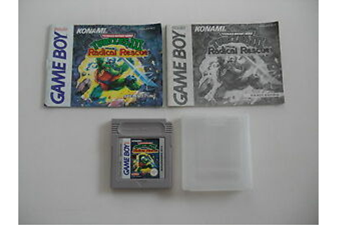 Teenage Mutant Hero Turtles III Radical Rescue Game Boy ...