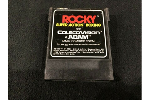 Original ColecoVision Video Game: Rocky Super Action ...