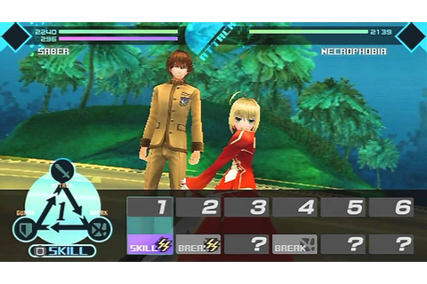 Fate/Extra Game Sample - PSP - YouTube