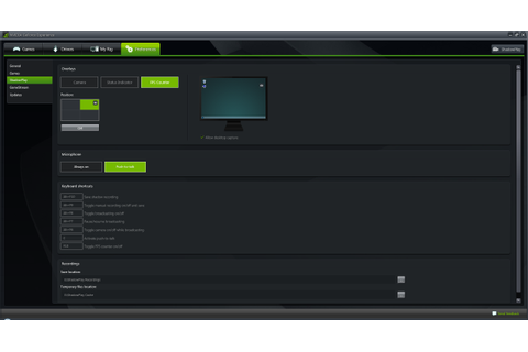 GeForce Experience 2.1 Adds In-Game FPS Counter, Shadow ...