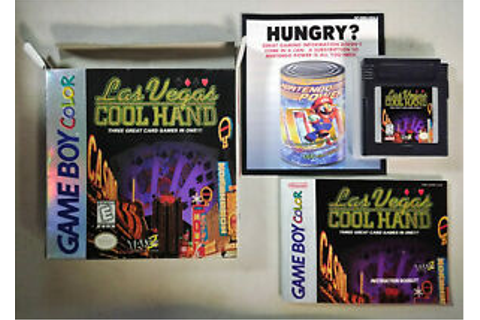 Las Vegas Cool Hand (Nintendo Game Boy Color, 1998) GBC ...
