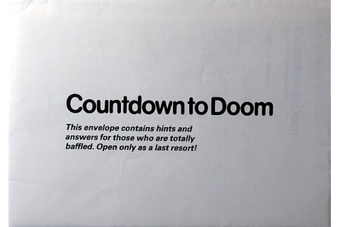 Computer Game Museum Display Case - Countdown to Doom