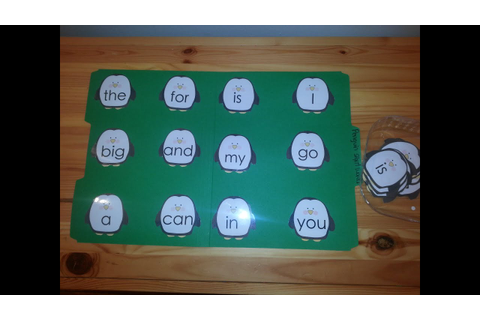 Penguin Sight Words File Folder Game- Kindergarten- Fun ...