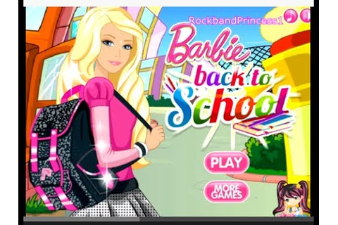 Barbie Games - Barbie School Style Dress Up Game - YouTube