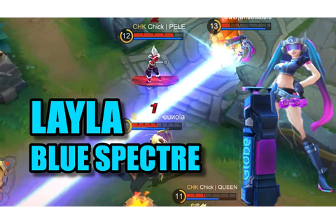 Mobile Legends - New Blue Spectre Layla Skin Gameplay ...