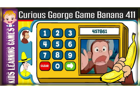 curious george games banana 411 - curious george - banana ...