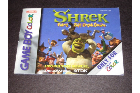 Shrek: Fairy Tale FreakDown 5 GBC Official by QueenOfGames31