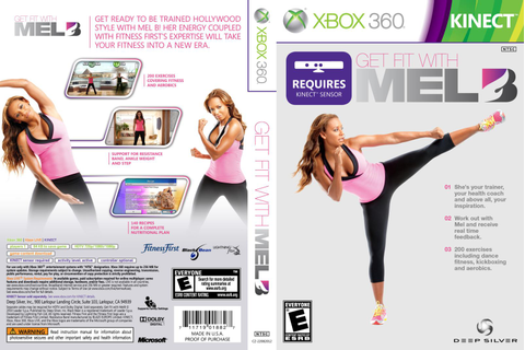 Get Fit With Mel B Xbox 360 - Gamecover | Capas ...