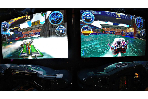 H2Overdrive Powerboat Racing Arcade Game 2 Player Dual ...