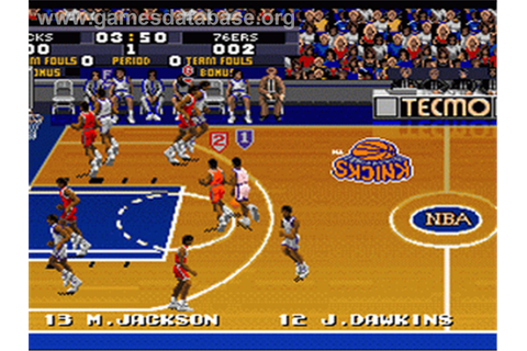 Tecmo Super NBA Basketball - Nintendo SNES - Games Database