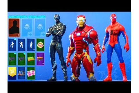 Avengers Endgame SKINS..! (Concepts) Fortnite Battle ...