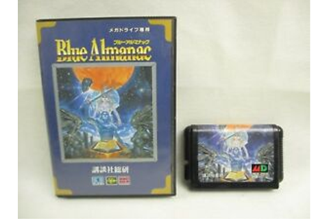 Mega Drive BLUE ALMANAC No instruction bcn SEGA md ...