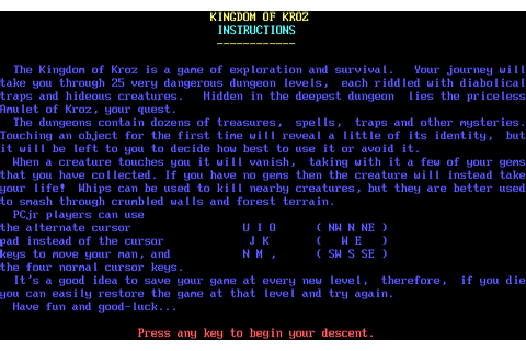 Download Kingdom of Kroz - My Abandonware
