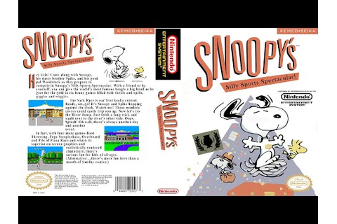Snoopy's Silly Sports Spectacular (NES) - YouTube