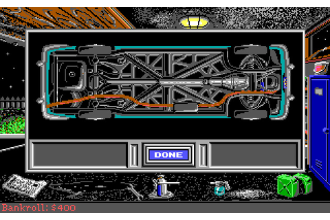 Street Rod 2: The Next Generation racing for DOS (1991 ...