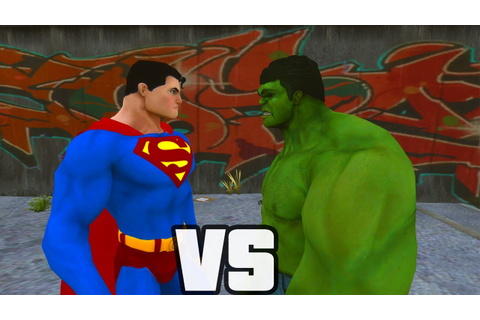 Superman Vs Hulk - O Combate - YouTube