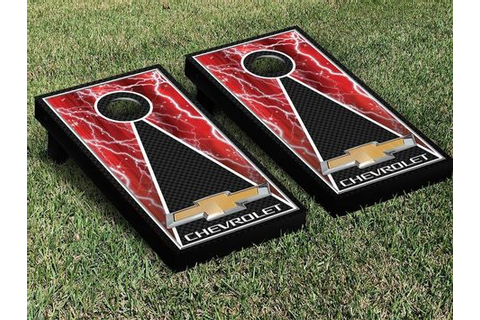 Chevy Chevrolet Red Lightning Cornhole Board Game Decal ...