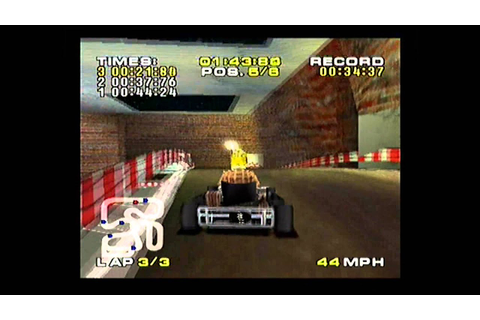 Quick Look Michael Schumacher racing world Kart 2002 ps1 ...