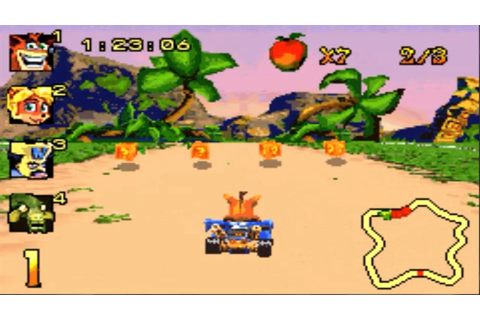 Crash Nitro Kart (Gameboy Advance Gameplay) - YouTube