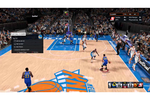 NBA 2K16 QUICK GAME WARRIORS-KNICKS - YouTube