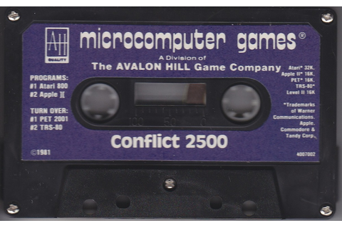 Atari 400 800 XL XE Conflict 2500 : scans, dump, download ...