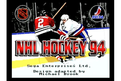 NHL Hockey 94 - Sega Megadrive Gameplay - 1993 - YouTube