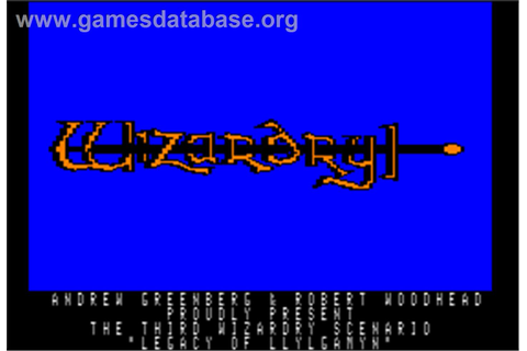 Wizardry III: Legacy of Llylgamyn - Apple II - Games Database