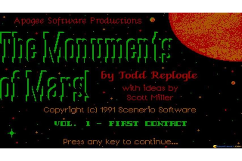 Monuments of Mars gameplay (PC Game, 1991) - YouTube