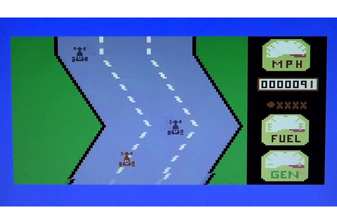 C64 Commodore 64 Motor Mania game review - YouTube