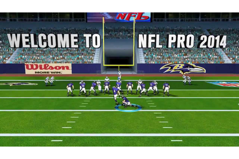 NFL Pro 2014 - Official Gameplay Trailer - YouTube